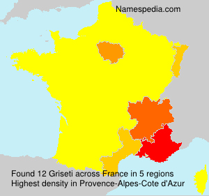Surname Griseti in France