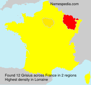 Surname Grisius in France