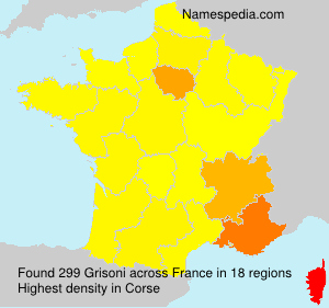 Surname Grisoni in France