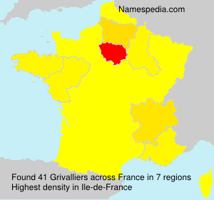 Surname Grivalliers in France