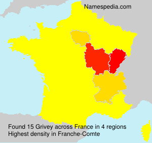 Surname Grivey in France