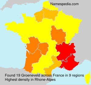 Surname Groeneveld in France