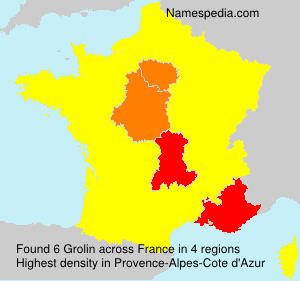 Surname Grolin in France