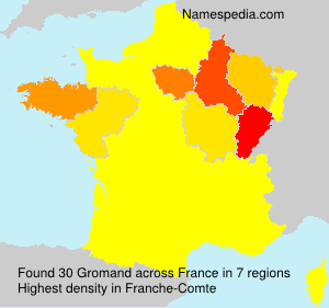 Surname Gromand in France