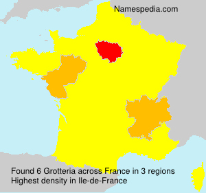 Surname Grotteria in France