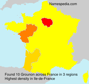 Surname Grounon in France