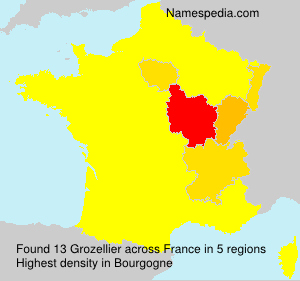 Surname Grozellier in France