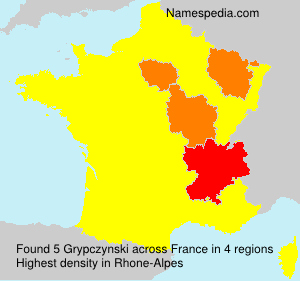 Surname Grypczynski in France