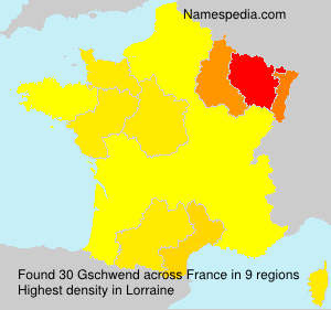 Surname Gschwend in France
