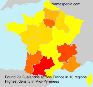 Surname Gualandris in France