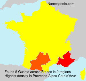 Surname Guasta in France
