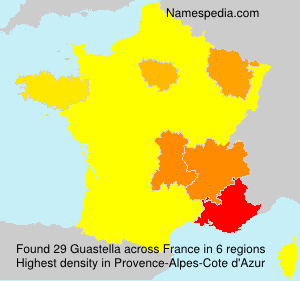 Surname Guastella in France