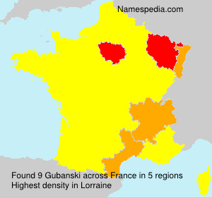 Surname Gubanski in France