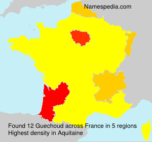 Surname Guechoud in France