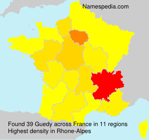 Surname Guedy in France