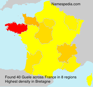 Surname Guele in France