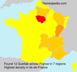Surname Guellab in France