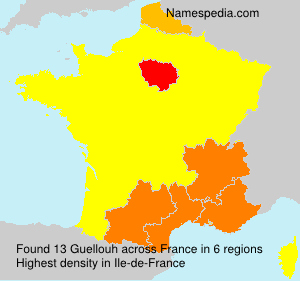 Surname Guellouh in France