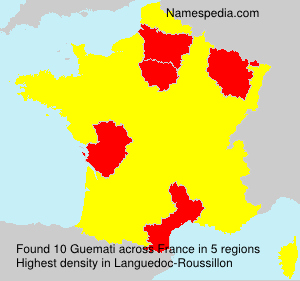 Surname Guemati in France