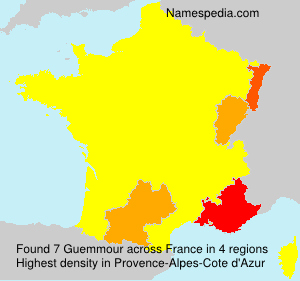 Surname Guemmour in France