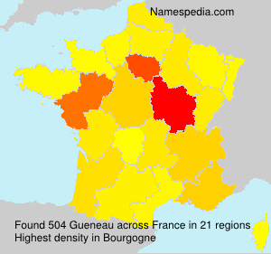 Surname Gueneau in France