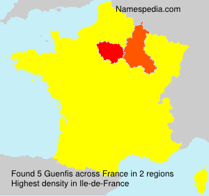 Surname Guenfis in France