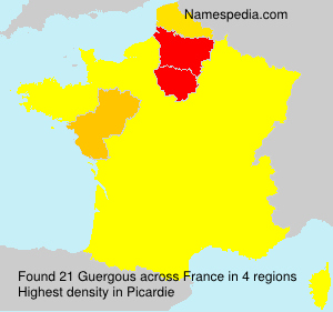 Surname Guergous in France