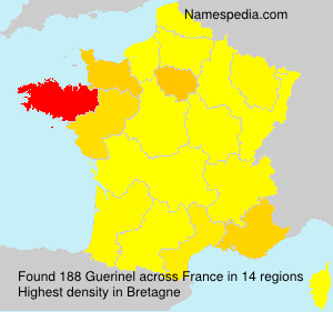 Surname Guerinel in France