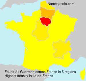 Surname Guermah in France