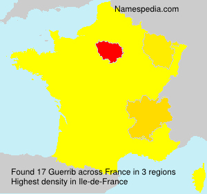 Surname Guerrib in France