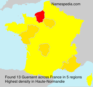 Surname Guersent in France