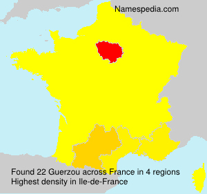 Surname Guerzou in France