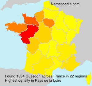 Surname Guesdon in France