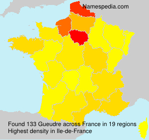 Surname Gueudre in France