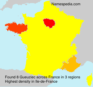 Surname Gueuziec in France