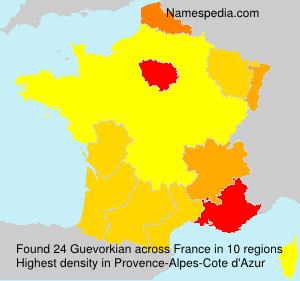 Surname Guevorkian in France