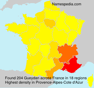 Surname Gueydan in France
