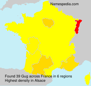 Surname Gug in France
