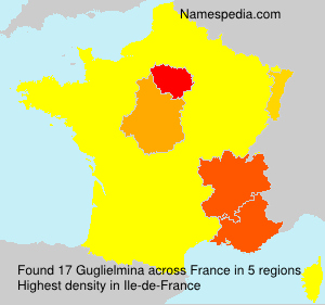 Surname Guglielmina in France