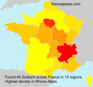 Surname Guibard in France