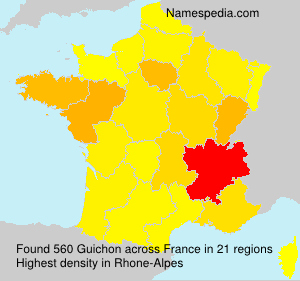 Surname Guichon in France