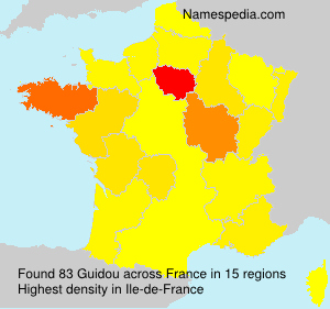 Surname Guidou in France