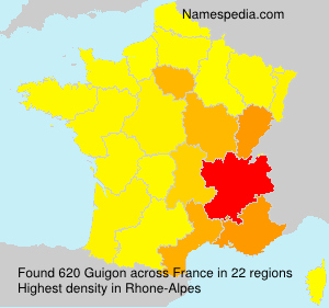 Surname Guigon in France