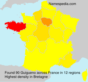 Surname Guigueno in France