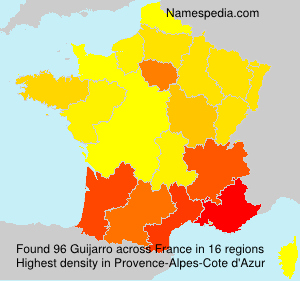 Surname Guijarro in France