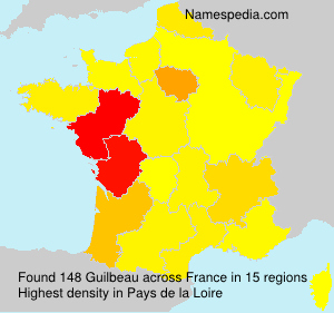 Surname Guilbeau in France