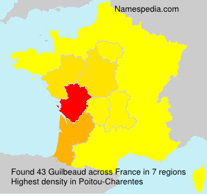 Surname Guilbeaud in France