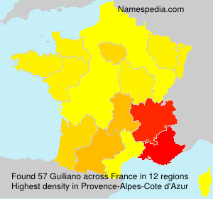 Surname Guiliano in France