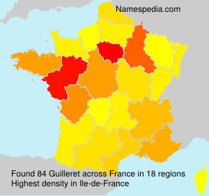 Surname Guilleret in France