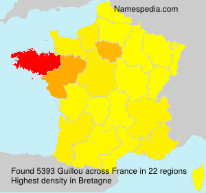 Surname Guillou in France